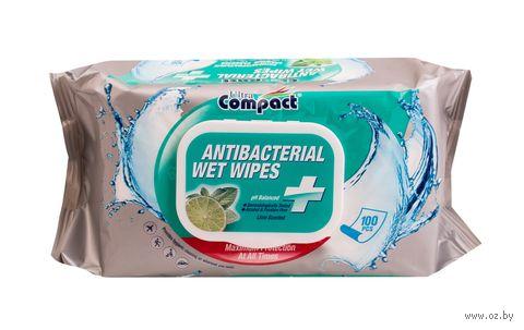 """Влажные салфетки """"Antibacterial"""" (100 шт.) — фото, картинка"""