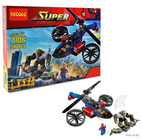 "Конструктор ""Super Heroes. Вертолёт человека паука"" (299 деталей) — фото, картинка"