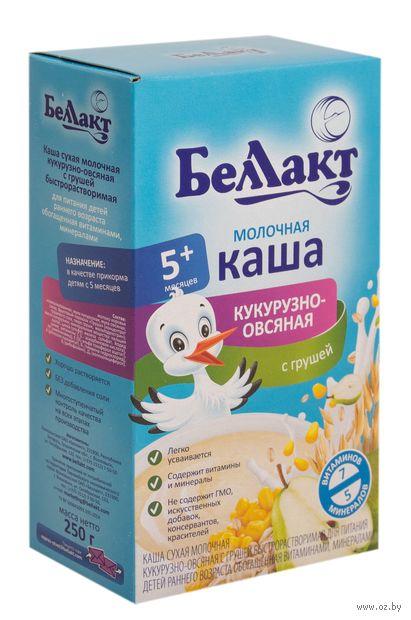"""Детская каша Беллакт """"Кукурузно-овсяная с грушей"""" (250 г) — фото, картинка"""