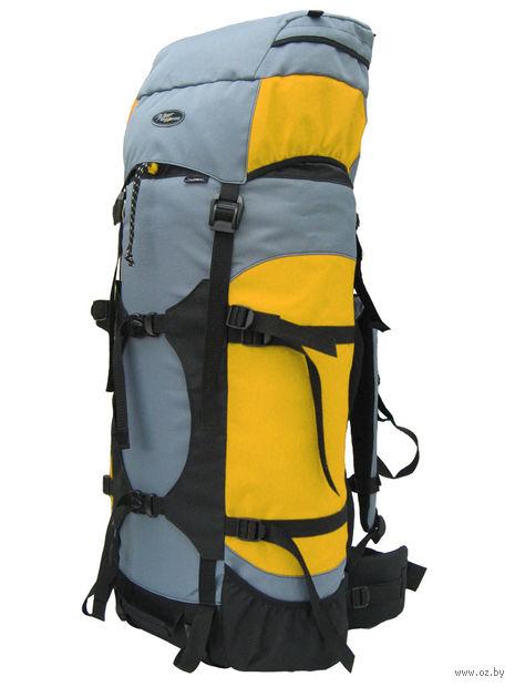 "Рюкзак ""Фьорд-60"" (60 л; чёрно-серо-жёлтый) — фото, картинка"