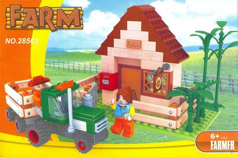"""Конструктор """"Ферма. Домик фермера"""" (210 деталей) — фото, картинка"""