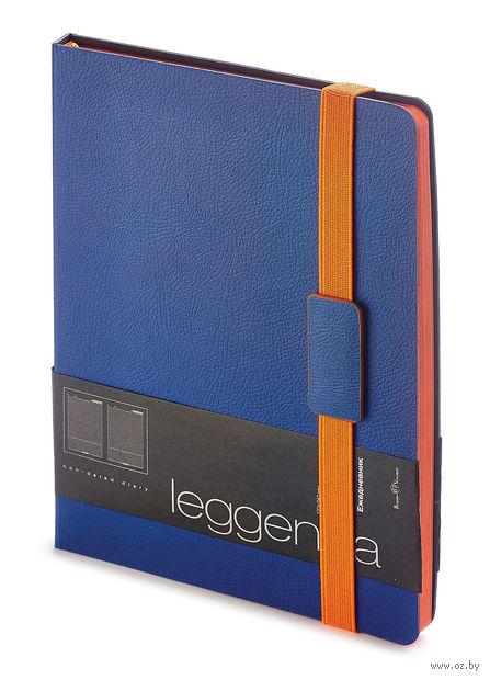 """Ежедневник недатированный """"Leggenda"""" (B5; темно-синий) — фото, картинка"""