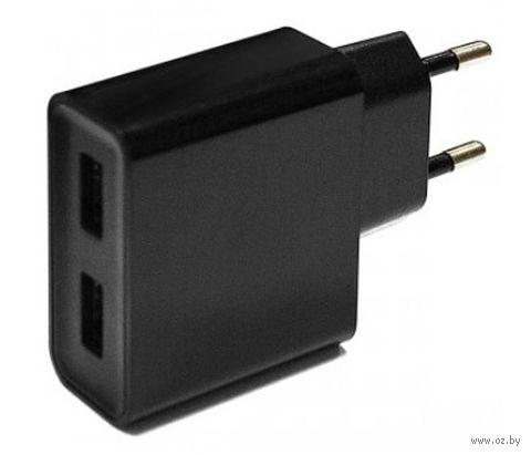 Сетевое ЗУ SmartBuy EZ-CHARGE, 3А, 2 USB, черн (SBP-6000)