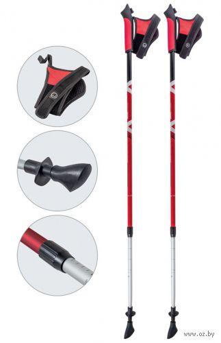 Палки для скандинавской ходьбы двухсекционные AQD-B020 (85-135 см; красные) — фото, картинка