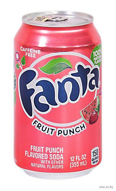 """Напиток газированный """"Fanta. Фруктовый пунш"""" (355 мл) — фото, картинка"""