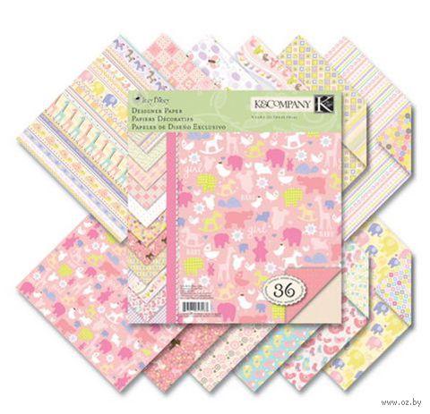 "Набор бумаги для скрапбукинга ""Для девочки"" (215х215 мм; 36 листов)"