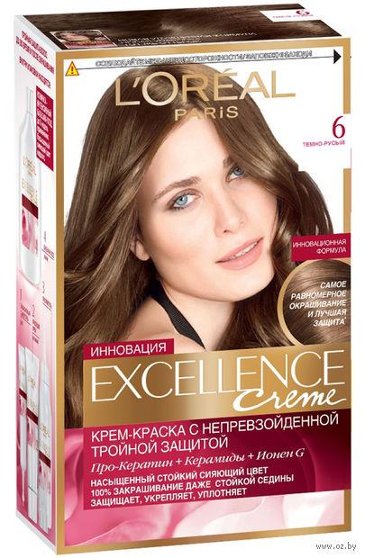 """Крем-краска для волос """"Excellence"""" (тон: 6, темно-русый)"""