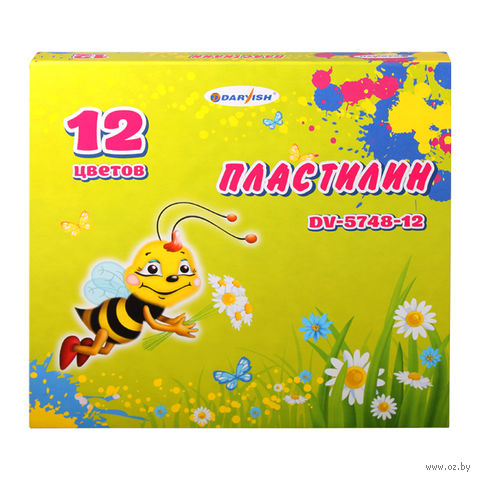 Пластилин флуоресцентный (12 цветов)