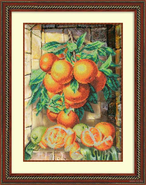 """Вышивка бисером """"Апельсиновая гроздь"""""""