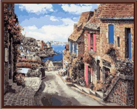 "Картина по номерам ""Испанская улица"" (400х500 мм; цветной холст)"