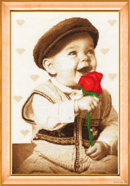 """Вышивка крестом """"Подарок для мамы"""" (364x227 мм) — фото, картинка"""