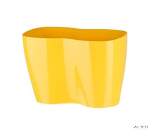 Цветочный горшок (23,5х12х16 см; желтый) — фото, картинка