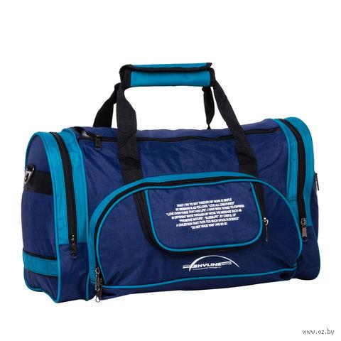 Сумка спортивная 6065с (37,5 л; сине-голубая) — фото, картинка