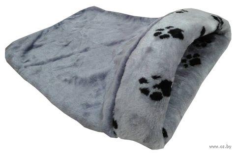 Лежанка-мешочек для кошек (45х65х25 см; серая) — фото, картинка