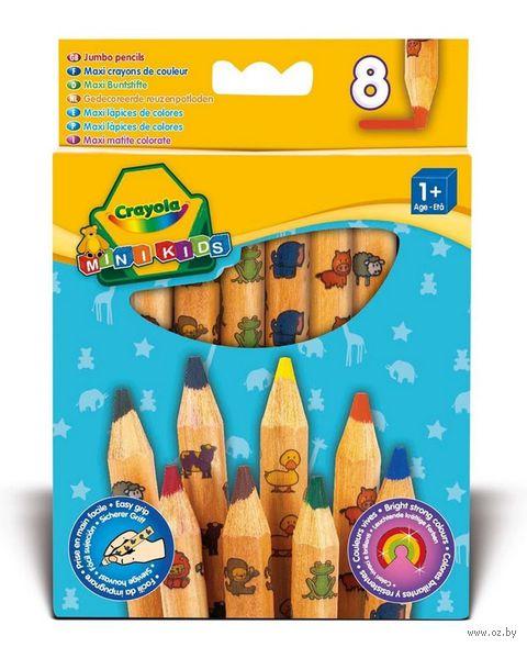 """Набор карандашей цветных """"Crayola. Для малышей"""" (8 цветов) — фото, картинка"""