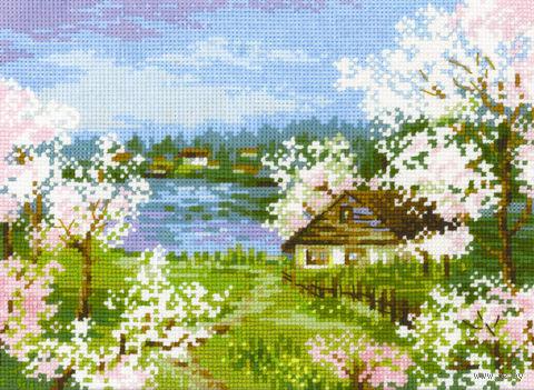 """Вышивка крестом """"Яблони в цвету"""" (240х180 мм) — фото, картинка"""
