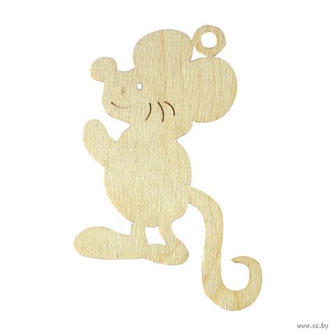 """Заготовка деревянная """"Подвеска. Мышка """" (100х70 мм)"""