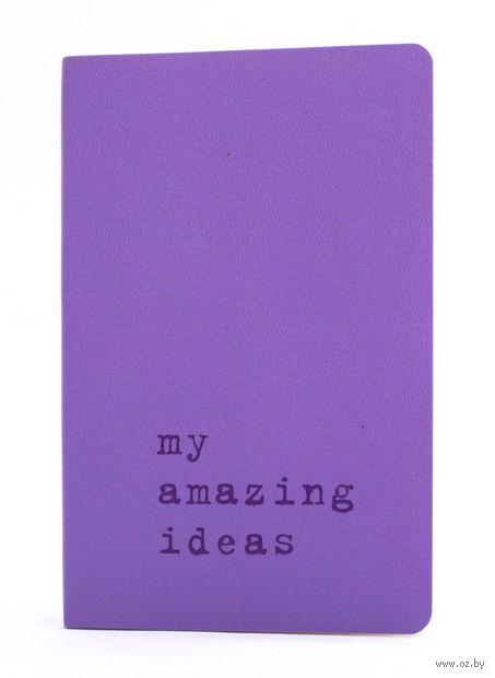 """Записная книжка Молескин """"Volant. My Amazing Ideas"""" нелинованная (карманная; мягкая светло-пурпурная обложка)"""