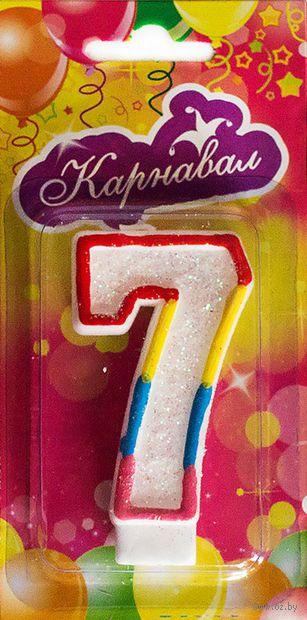 """Свеча для торта """"Цифра 7"""" — фото, картинка"""