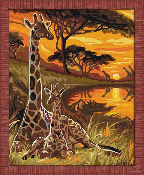 "Картина по номерам ""Жирафы"" (400х500 мм) — фото, картинка"