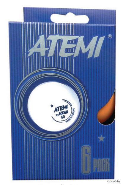 Мячи для настольного тенниса Atemi (6 шт.; 1 звезда; оранжевые) — фото, картинка