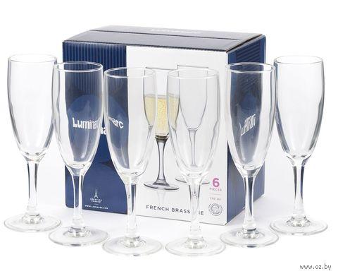 "Бокал для шампанского стеклянный ""French Brasserie"" (6 шт.; 170 мл) — фото, картинка"