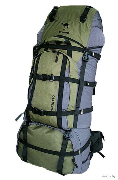 """Рюкзак """"Tourist 90"""" (90 л; серо-зелёный) — фото, картинка"""