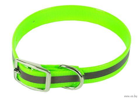 Ошейник со светоотражающими элементами (20-24 см; зеленый) — фото, картинка