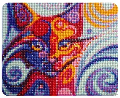 "Алмазная вышивка-мозаика ""Сказочная кошка"" (170х210 мм) — фото, картинка"