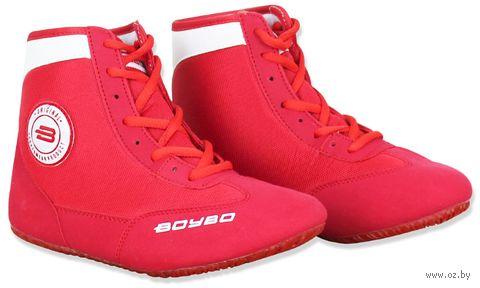 Обувь для борьбы (р. 35; красно-белая) — фото, картинка