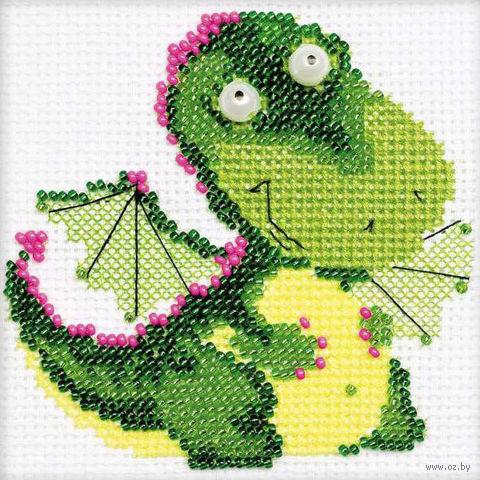 """Набор для вышивания """"Дракончик"""" (100х100 мм) — фото, картинка"""