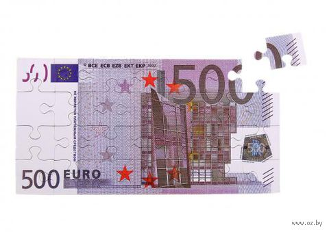 "Магнит пластмассовый ""Пазл-500 евро"" (82х160 мм; арт. 10416127)"