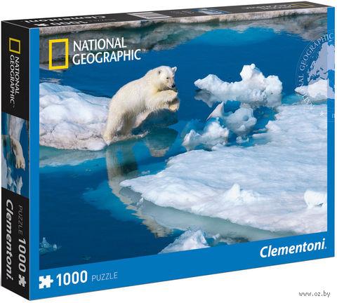 """Пазл """"National Geographic. Белый медвежонок на льдинах"""" (1000 элементов)"""
