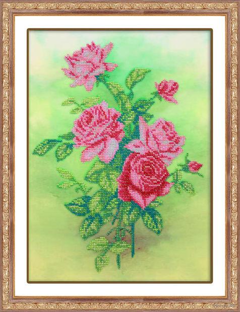 """Вышивка бисером """"Розовые розы"""""""