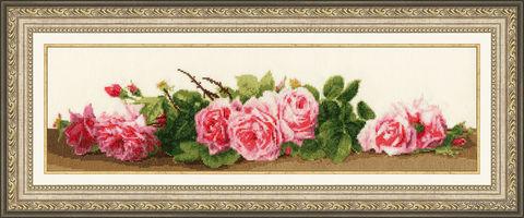 """Вышивка крестом """"Розовый аромат"""" — фото, картинка"""