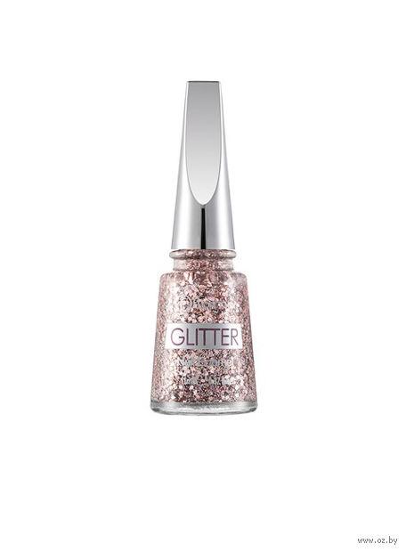 """Лак для ногтей """"Glitter Nail Enamel"""" (тон: 02, pink silver) — фото, картинка"""