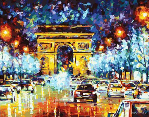 "Картина по номерам ""Триумфальная арка"" (400х500 мм; цветной холст)"