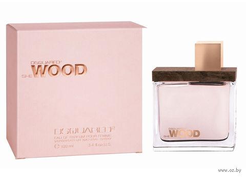 """Парфюмерная вода для женщин Dsquared2 """"She Wood"""" (100 мл) — фото, картинка"""