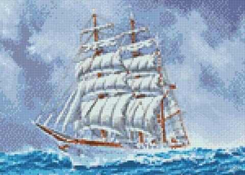 "Алмазная вышивка-мозаика ""Корабль"" (380х270 мм) — фото, картинка"