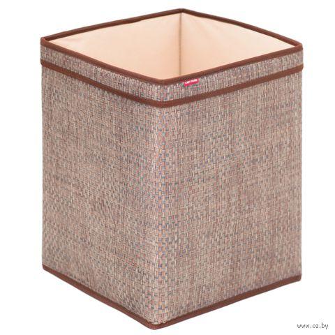 Корзина (32х32х41 см; коричневая) — фото, картинка