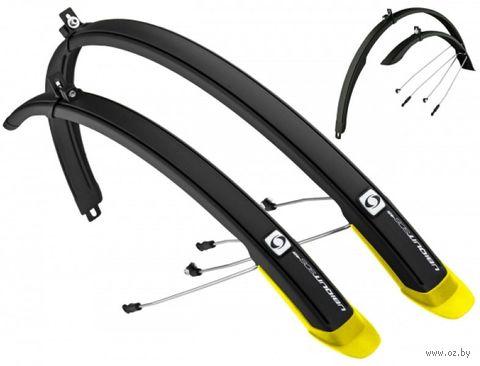 """Комплект щитков для велосипеда """"Ubiquit 46 SDL"""" (чёрно-жёлтый) — фото, картинка"""