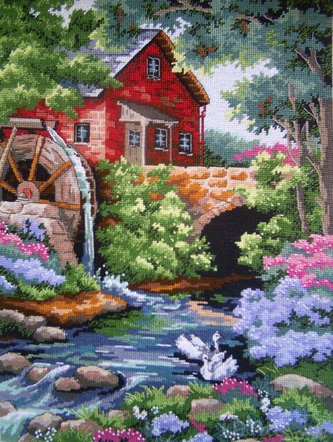 """Вышивка """"Дом у мельницы"""" (арт. DMS-02484)"""