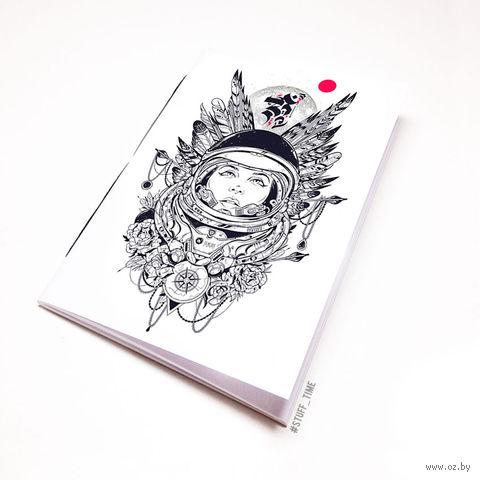 """Блокнот """"Девушка космонавт"""" (А5; арт. 454) — фото, картинка"""