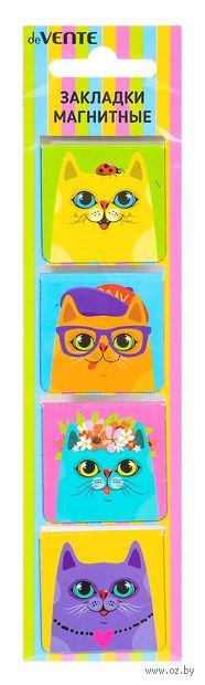 "Набор магнитных закладок ""Fashion Cats"" (4 шт.) — фото, картинка"