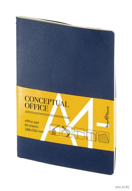 "Блокнот в клетку ""Conceptual Office"" (А4-; синий) — фото, картинка"