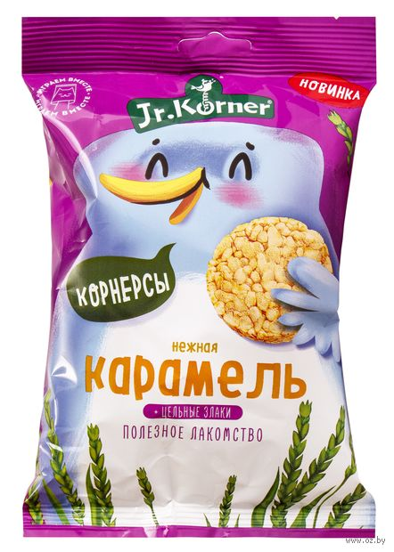 """Мини-хлебцы """"Jr. Körner. Со вкусом карамели"""" (30 г) — фото, картинка"""
