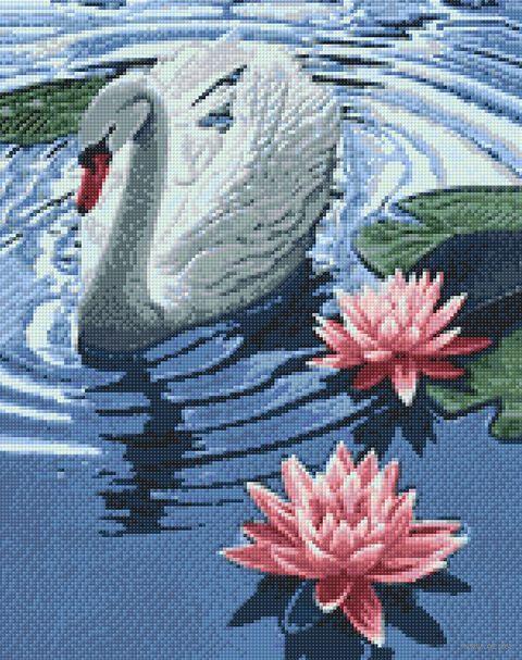 """Алмазная вышивка-мозаика """"Принцесса-лебедь"""" (380х480 мм) — фото, картинка"""