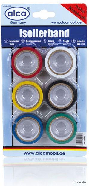 "Изоляционная лента цветная ""554"" (6 шт.; 5 м х18 мм; арт. 6104) — фото, картинка"
