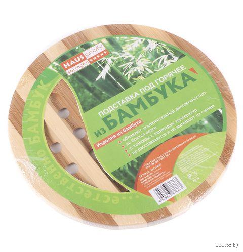 Подставка под горячее бамбуковая (200х10 мм) — фото, картинка