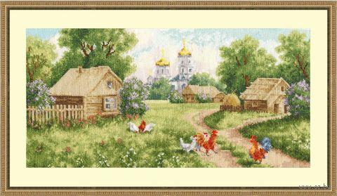 """Вышивка крестом """"Утро в деревне"""""""